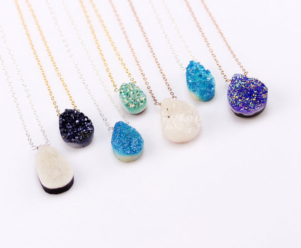 Gold Filled Druzy Necklace