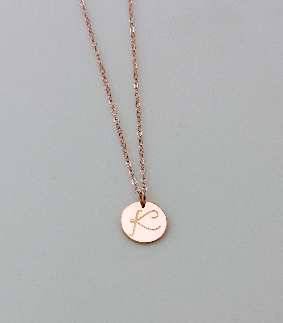 Rose Gold Large Disc Necklace