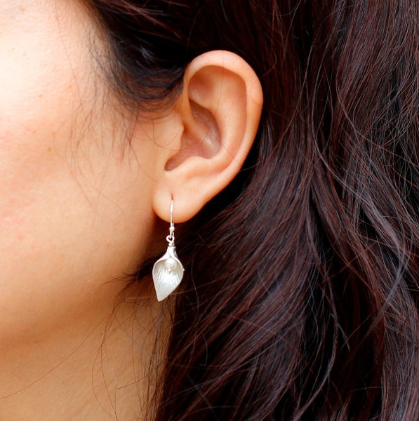 Silver Calla Lily Earring