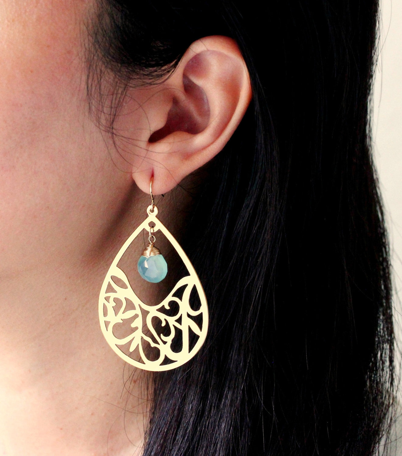 Gold Filled Boho Birthstone Earrings