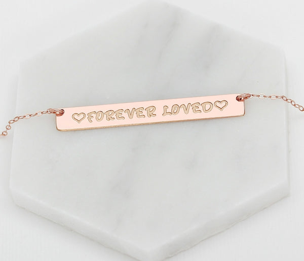 Long Name Bar Necklace