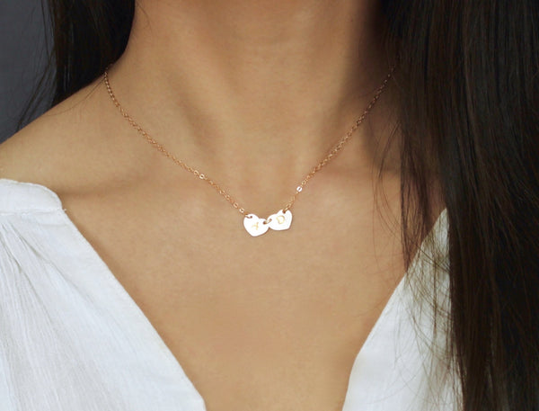 Personalized Heart Charms Necklace
