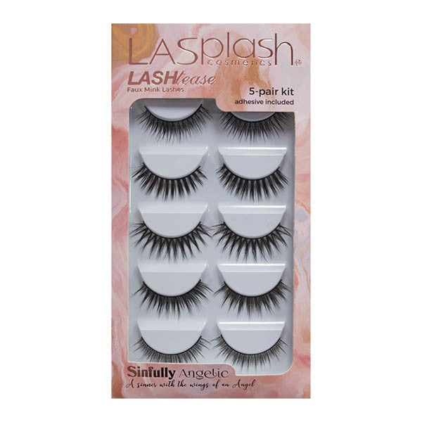 Lash Tease Mink Faux Lashes 5-pair Kit