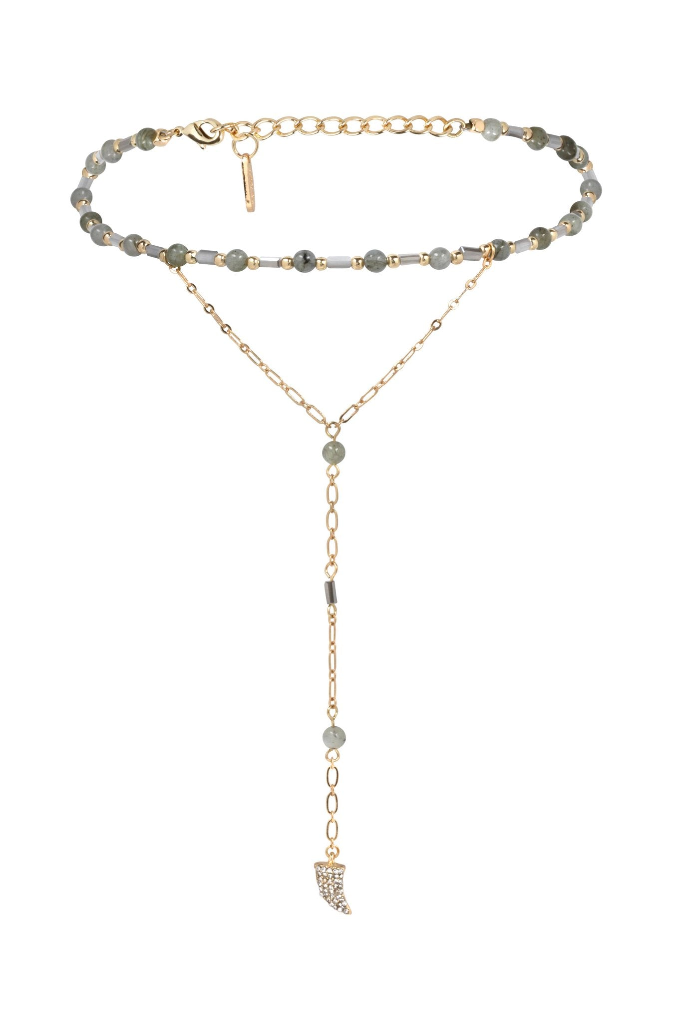 Love Me Lariat in Grey and Gold with Horn