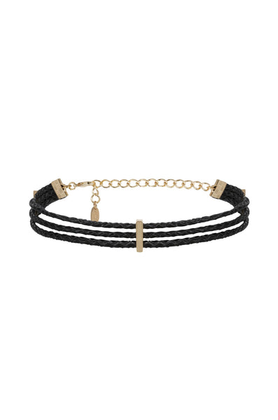 Riley Rope Choker in Black and Gold