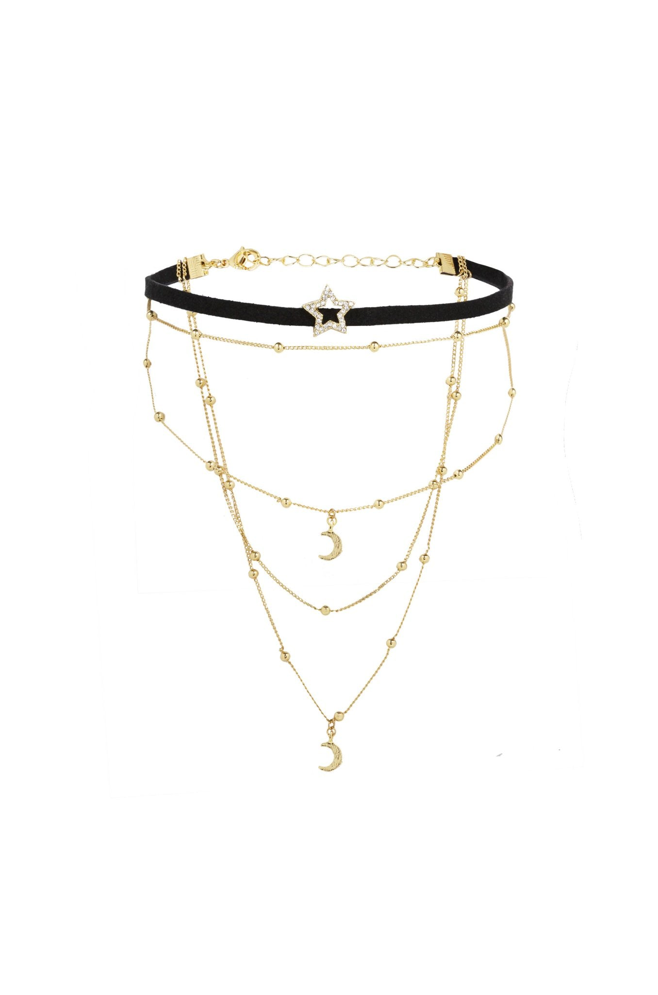 Rosalee Choker in Black and Gold