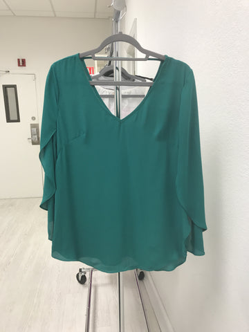 Vivian Blouse Emerald Green