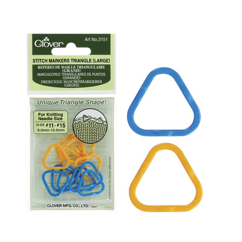 Clover Triangle Stitch Markers (Large) Art No. 3151