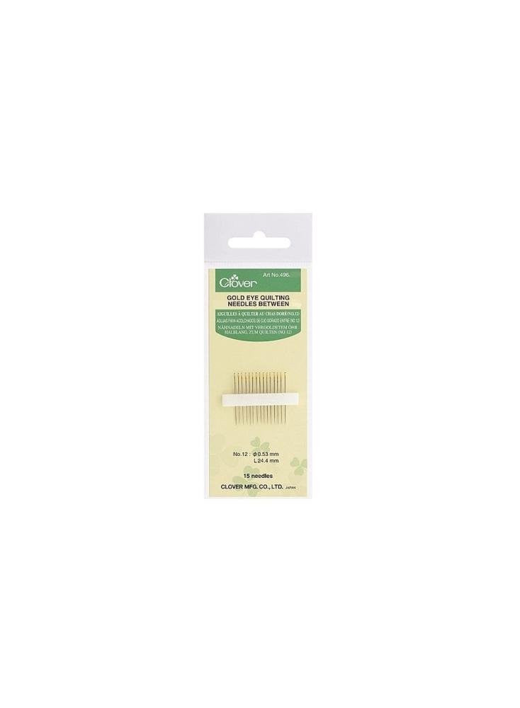 Clover Gold Eye Quilting Needles Art No. 496/8