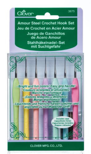 Clover Amour Steel Crochet Hook Set Art No. 3675