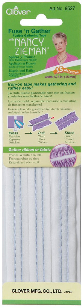 Clover Fuse 'N Gather Fusible Gathering Tape Art No. 9527