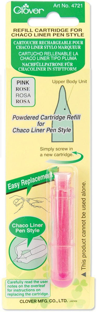 Clover Refill cartridge for chaco liner pen style Art No. 4721 (Pink)