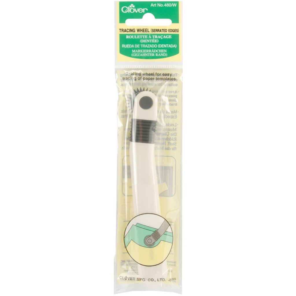 Clover Tracing Wheel Art No. 480/W (Serrated Edges)