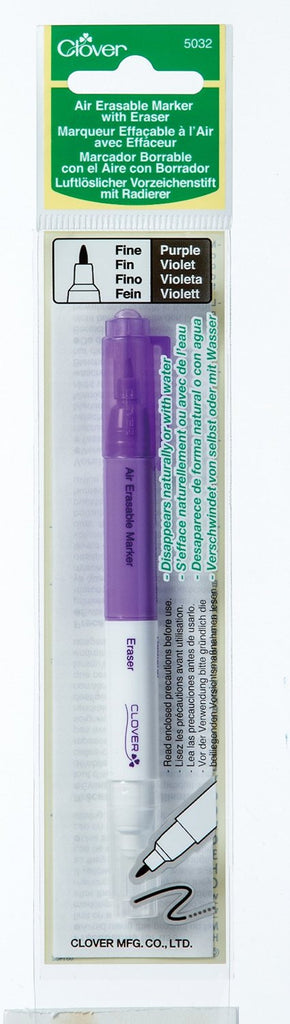 Clover Air Erasable Marker with Eraser Art No. 5032 (Purple Fine)