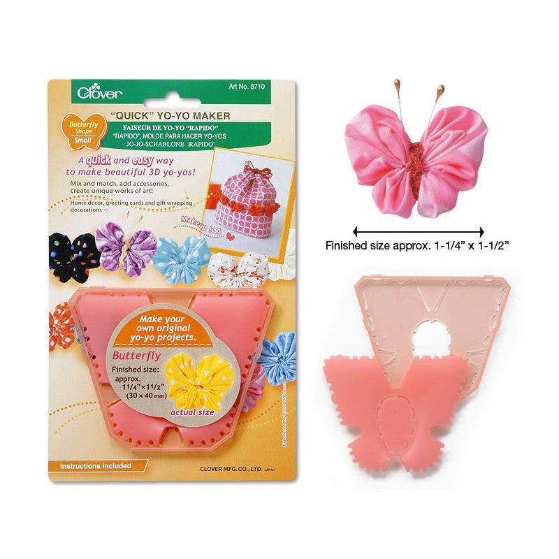 Clover QUICK Yo-Yo Maker Butterfly-Shape