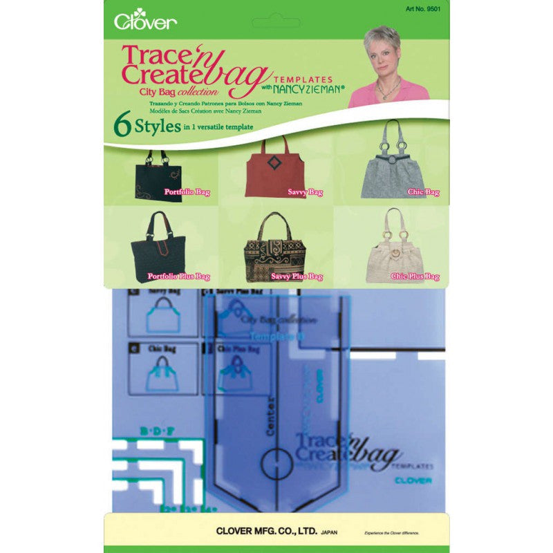 Clover Trace 'n Create Bag Templates with Nancy Zieman City Bag Collection Art No. 9501