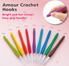 Clover Amour Crochet Hook Art No. 1050-1049/J (2.0mm -6.00mm)