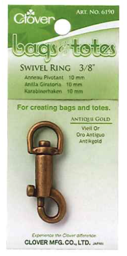 Clover Swivel Ring Antique Gold 10mm Art No. 6190