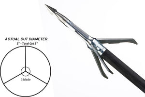 "Grim Reaper Broadheads Pro Series Mechanical Whitetail Special 2"" 3 Blade 4pk 100gr"