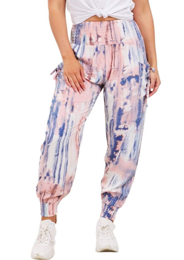 Cali Realxed Fit Pants in Watercolour  Frangipani Living frangipani-living2.myshopify.com