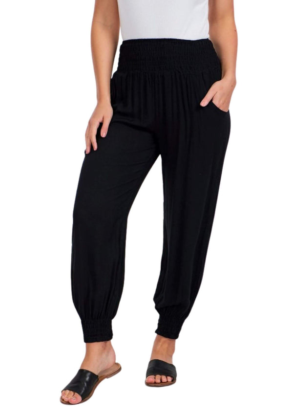 Cali Relaxed Fit Pants in Black  Frangipani Living frangipani-living2.myshopify.com