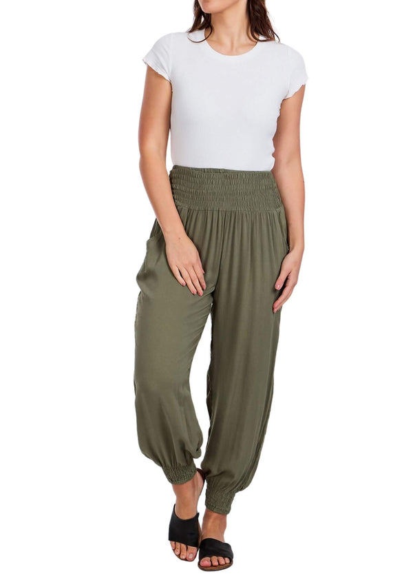 Cali Relaxed Fit Pants in Khaki  Frangipani Living frangipani-living2.myshopify.com