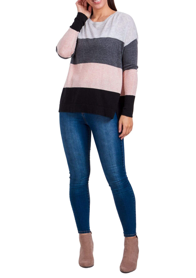 Carrie Colour Block oversized knit top