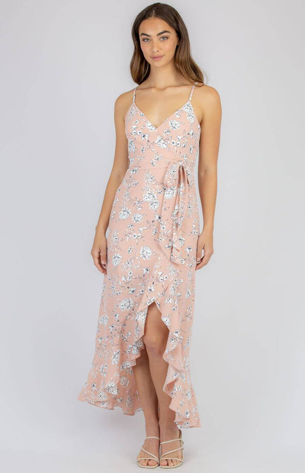 Dreslyn Waterfall Dress in Blush  Frangipani Living frangipani-living2.myshopify.com