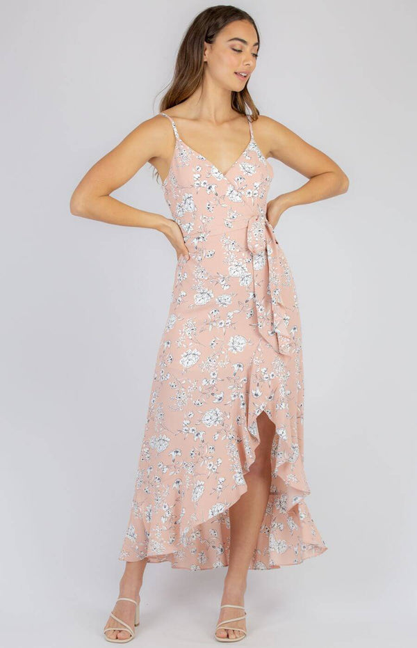 Dreslyn Waterfall Dress in Blush
