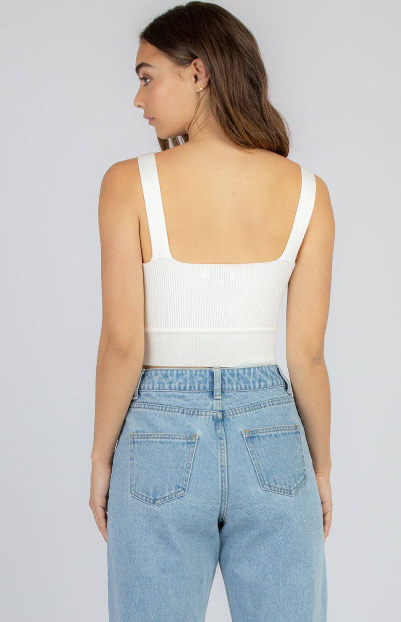 Jaynie Crop Top in White  Frangipani Living frangipani-living2.myshopify.com