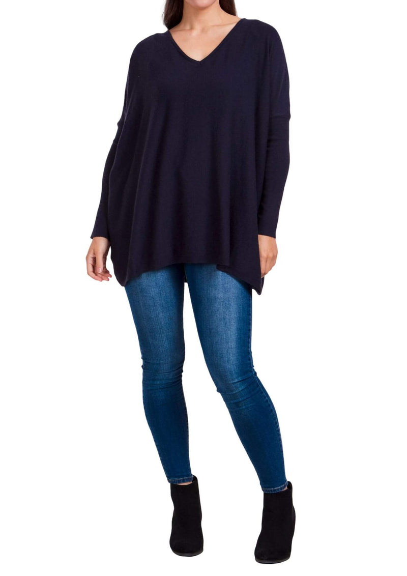 Khloe Oversized top in navy  Frangipani Living frangipani-living2.myshopify.com