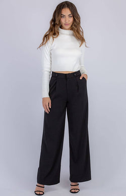 Legacy High waisted wide leg dress pants in black  Frangipani Living frangipani-living2.myshopify.com