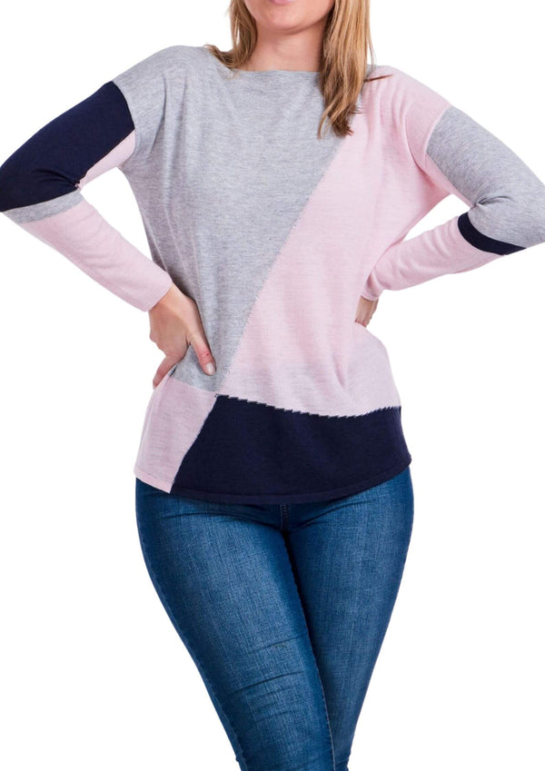Marleigh Fine Knit top in abstract block colours  Frangipani Living frangipani-living2.myshopify.com