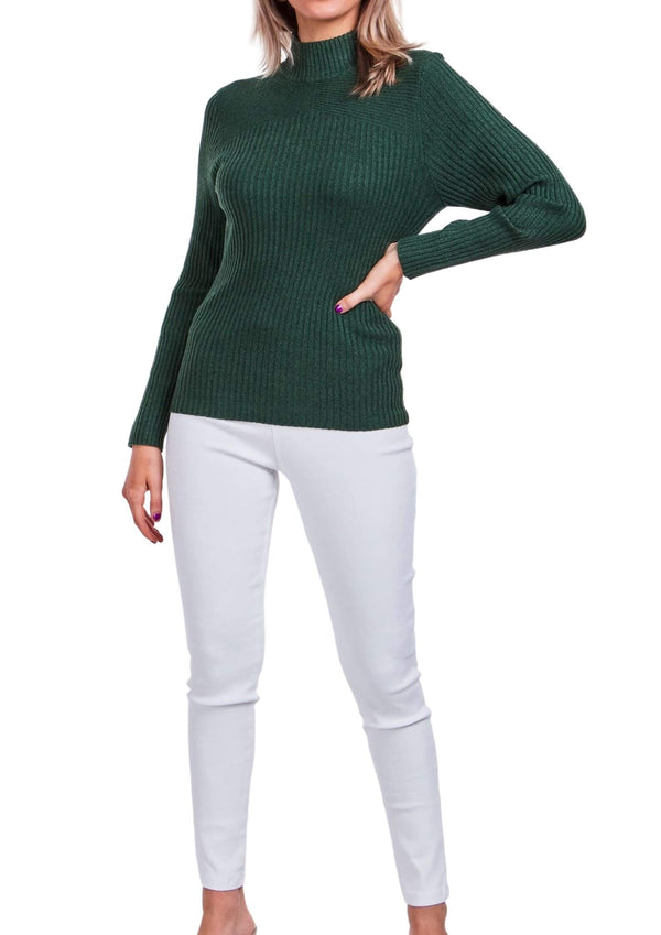 Sammie Ribbed Knit Long Sleeve Top in Emerald  Frangipani Living frangipani-living2.myshopify.com