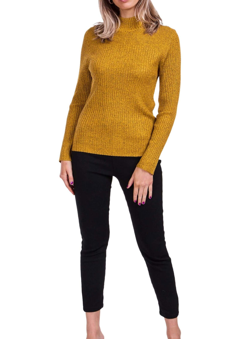 Sammie Ribbed Knit Long Sleeve Top in Mustard  Frangipani Living frangipani-living2.myshopify.com