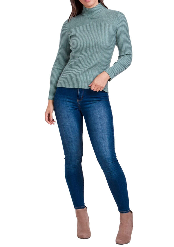 Sammie Ribbed Knit Long Sleeve Top in Sage  Frangipani Living frangipani-living2.myshopify.com