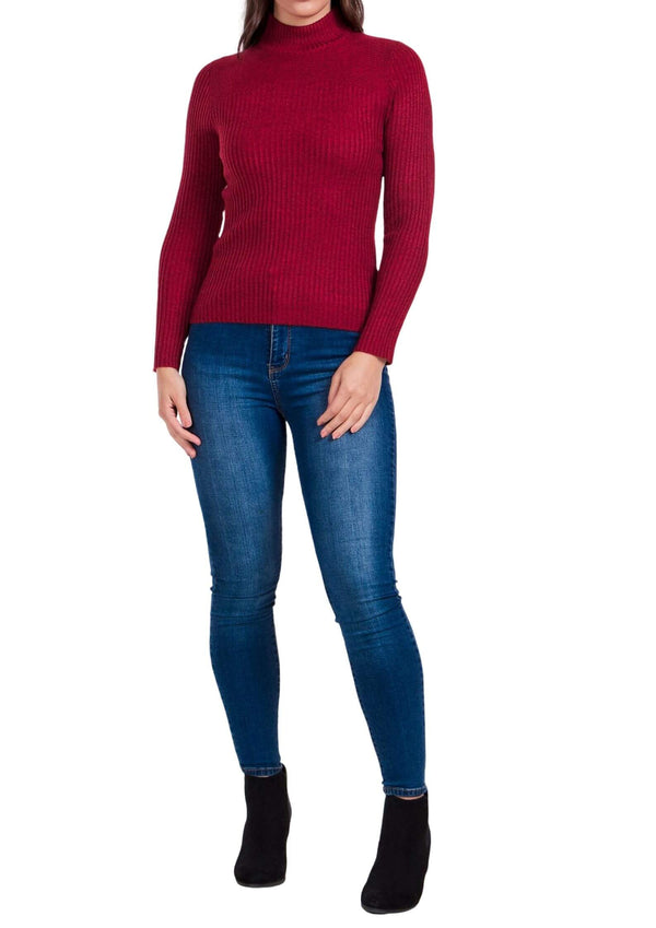 Sammie Ribbed Knit Long Sleeve Top in Wine  Frangipani Living frangipani-living2.myshopify.com