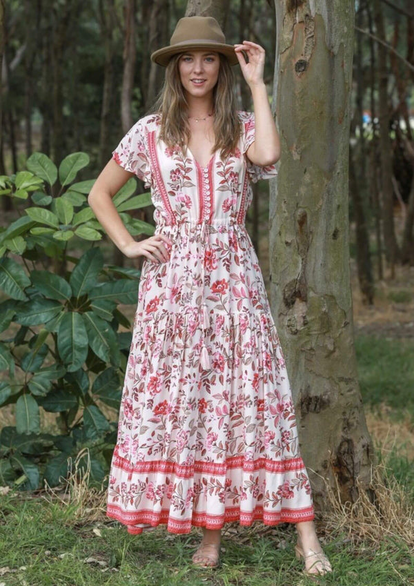 St Lucia Maxi Dress in Country Rose Pink