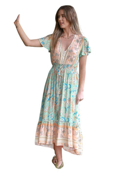 St Maria Boho Midi Dress in Citrus Mint  Frangipani Living frangipani-living2.myshopify.com