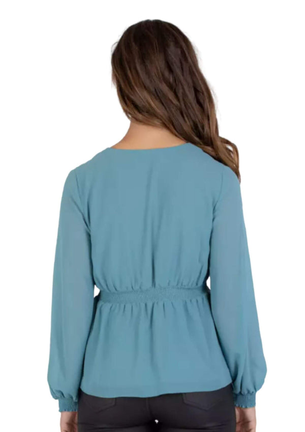 Sutton Long sleeve top in Blue  Frangipani Living frangipani-living2.myshopify.com