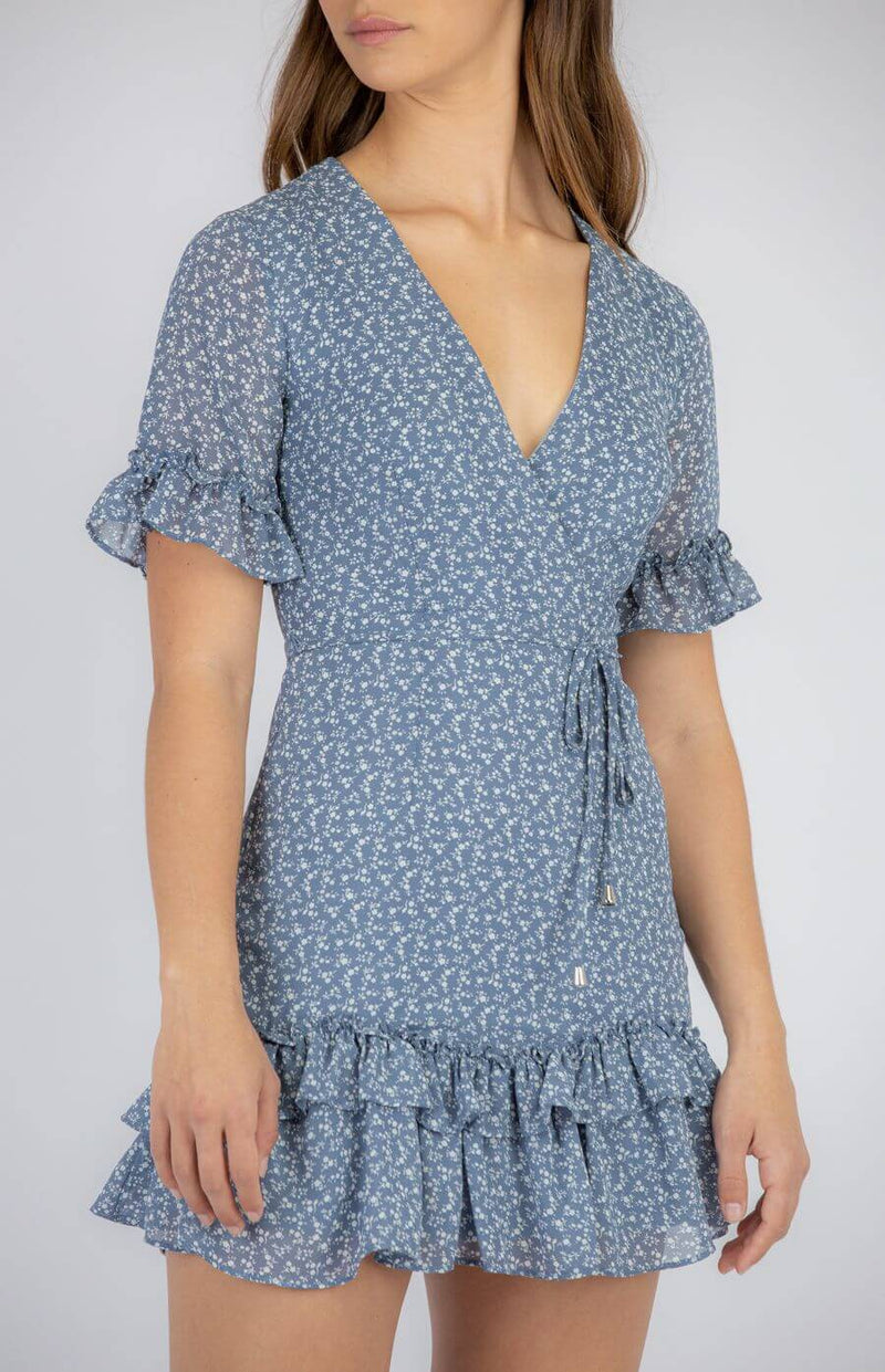 Veronica Dress in Blue Ditsy Print  Frangipani Living frangipani-living2.myshopify.com