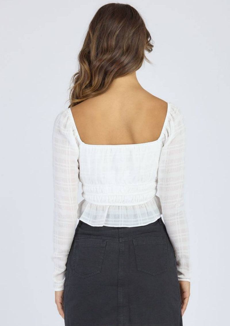 Zoe Long Sleeve Top in White