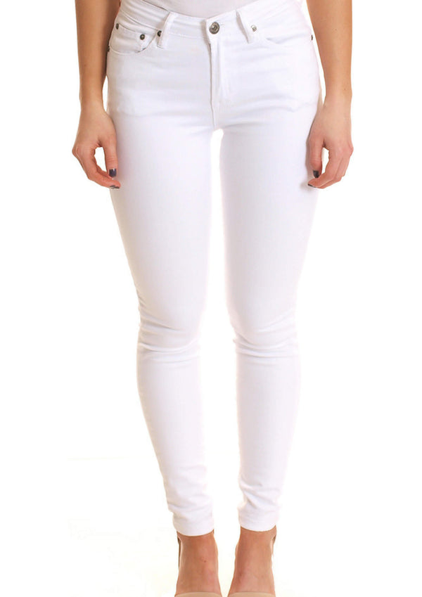 High Rise Skinny Jeans in White Denim  Frangipani Living frangipani-living2.myshopify.com