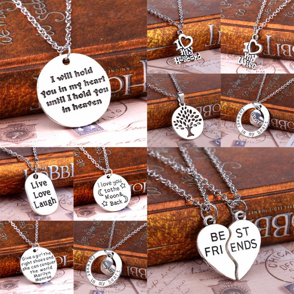 Family, Mom, Dad, Daughte,r Sister, Forever In My Heart, Love, Husband, Wife, Best Friends,  Pendant Necklace X Gifts