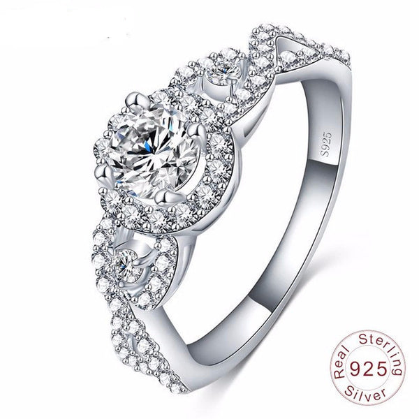 New Collection 925 Sterling Silver Brilliant Stackable Ring  Clear CZ Ring Fine