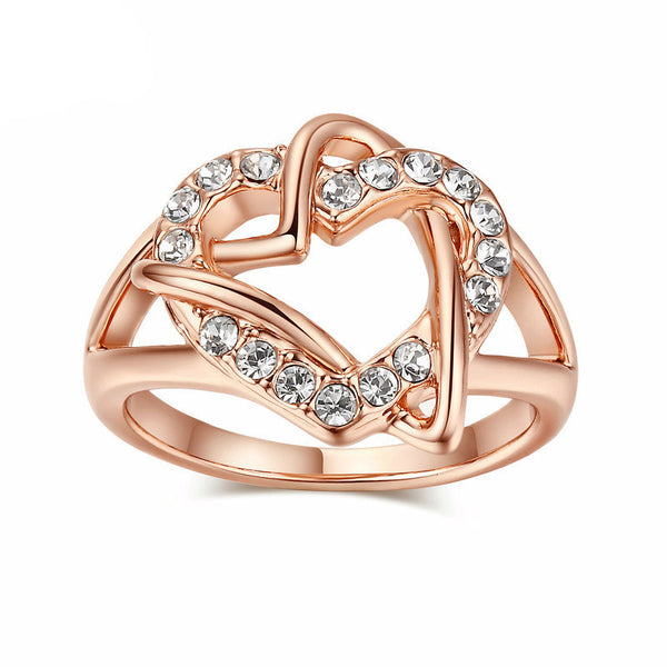 FREE RING Design Engagement White Gold Plated Wedding Ring