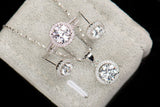Brilliant Genuine  Cz round cut Jewelry set