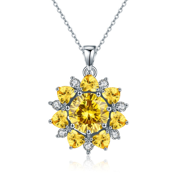 Brilliant Star Yellow Genuine Cz necklace