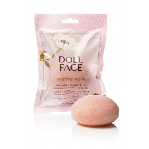 Doll Face Pretty Puff Rose Konjac Clarifying Sponge