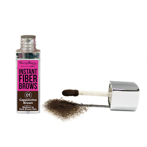 Cherry Blooms Fiber Brow Kit with Stencils - Cappuccino Brown